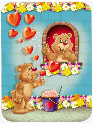 Buy this Teddy Bear Romeo and Juliet Love Glass Cutting Board Large APH3815LCB