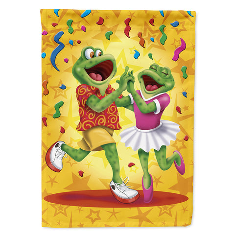 Buy this Frog Swing Dancing Flag Canvas House Size APH3874CHF