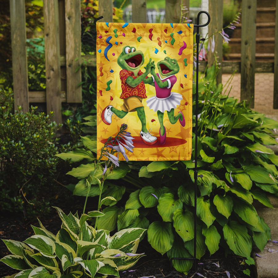 Buy this Frog Swing Dancing Flag Garden Size APH3874GF