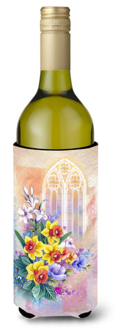 Buy this Church Window and Daffodils Wine Bottle Beverge Insulator Hugger APH3935LITERK