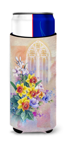 Buy this Church Window and Daffodils Michelob Ultra Hugger for slim cans APH3935MUK