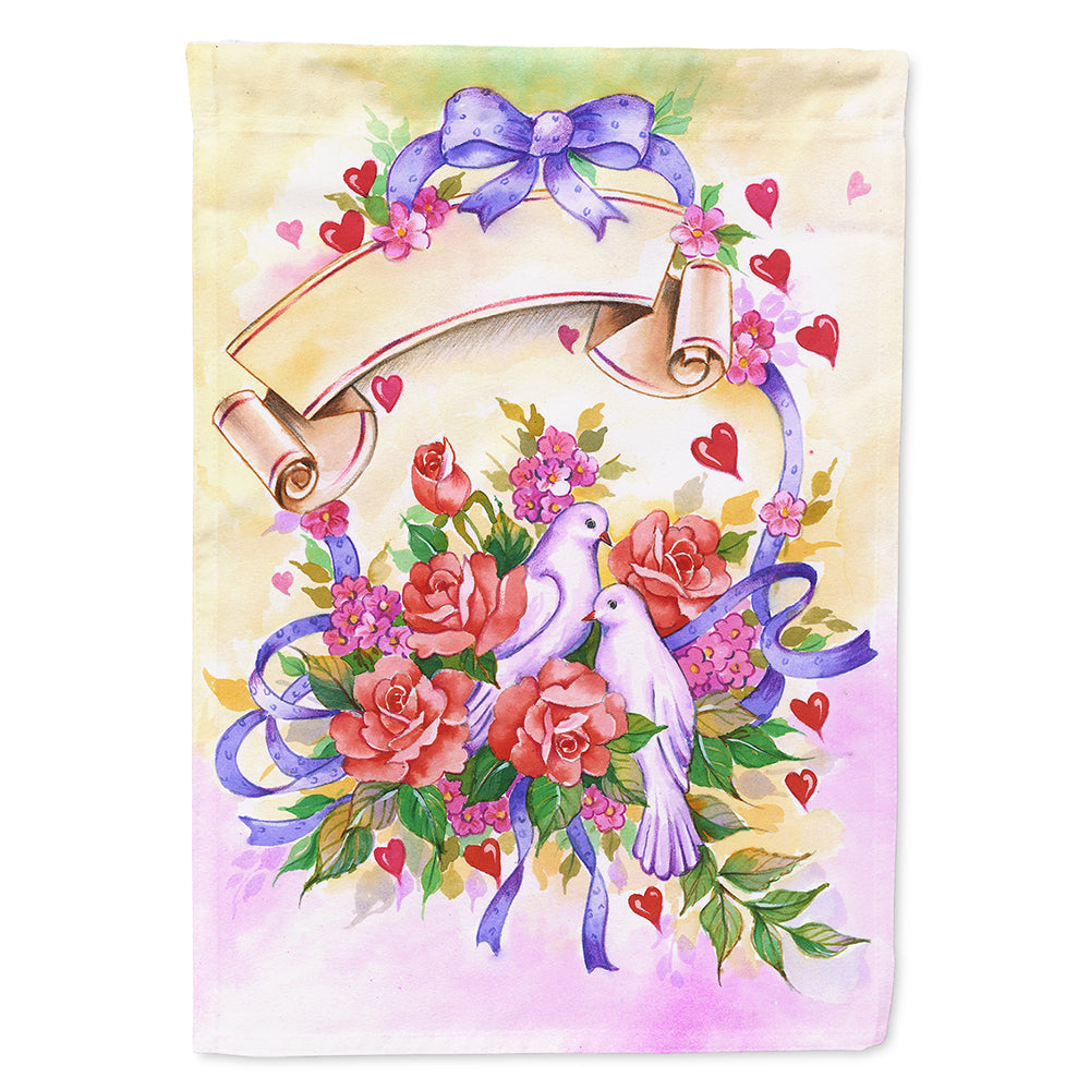 Wedding Bouquet Flag Canvas House Size APH4070CHF by Caroline's Treasures