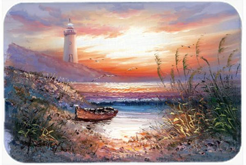Buy this Lighthouse Scene with Boat Glass Cutting Board Large APH4130LCB