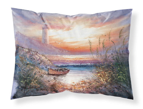 Buy this Lighthouse Scene with Boat Fabric Standard Pillowcase APH4130PILLOWCASE