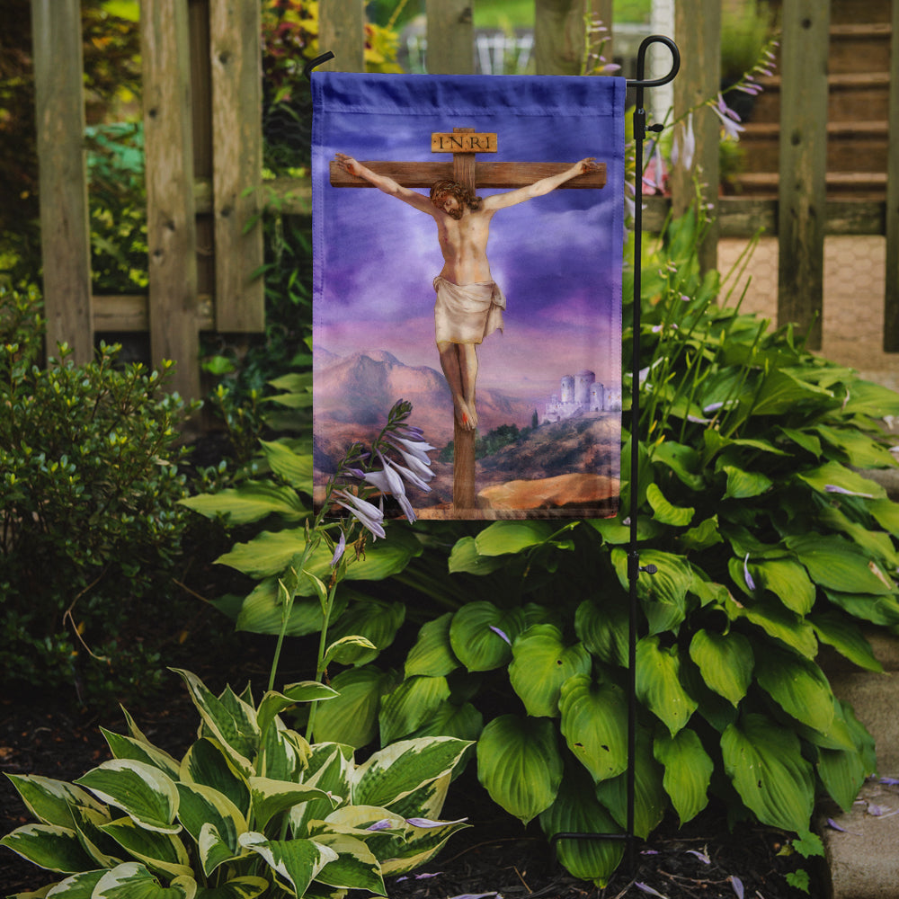 Easter Jesus Crucifixion Flag Garden Size APH4517GF by Caroline's Treasures