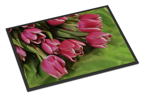 Buy this Pink Tulips Indoor or Outdoor Mat 24x36 APH5048JMAT
