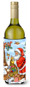 Christmas Santa Claus handing out presents Wine Bottle Beverage Insulator Hugger APH5444LITERK by Caroline's Treasures