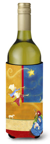 Contemporary Nativity Christmas Wine Bottle Beverage Insulator Hugger APH5626LITERK by Caroline's Treasures