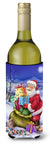 Christmas Santa Claus with Rabbits Wine Bottle Beverage Insulator Hugger APH6556LITERK by Caroline's Treasures