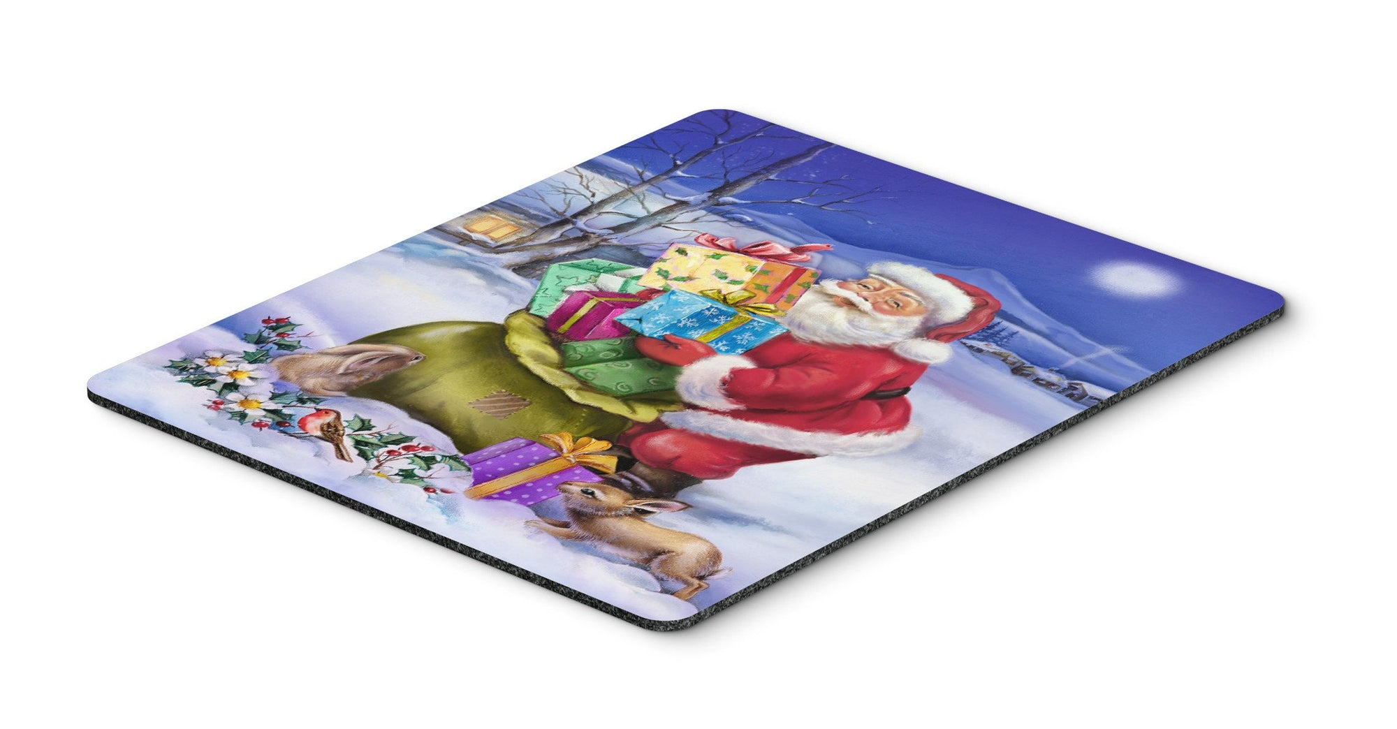 Christmas Santa Claus with Rabbits Mouse Pad, Hot Pad or Trivet APH6556MP by Caroline's Treasures