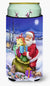 Christmas Santa Claus with Rabbits Tall Boy Beverage Insulator Hugger APH6556TBC by Caroline's Treasures