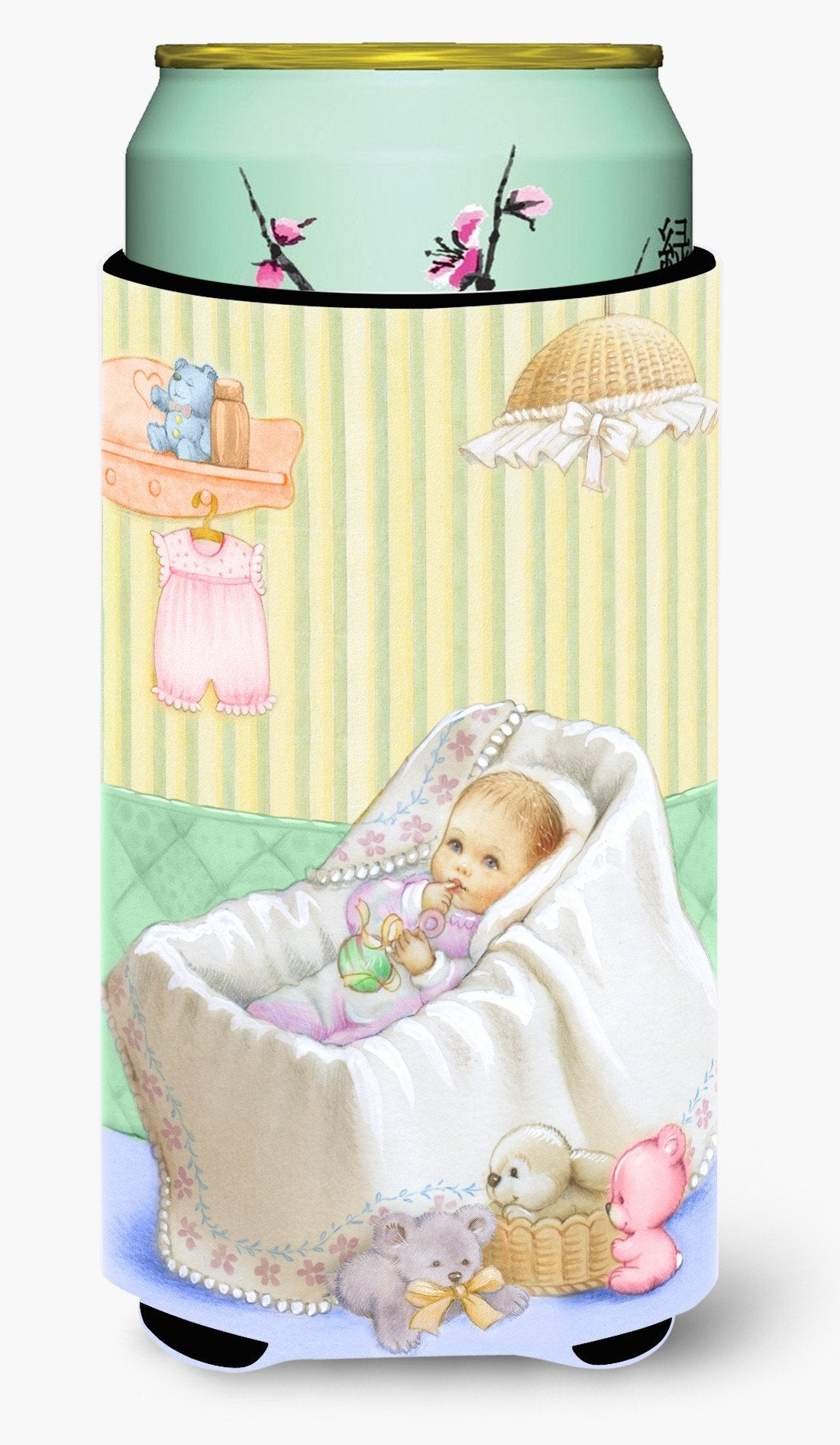 New Baby in Crib Tall Boy Beverage Insulator Hugger APH7093TBC by Caroline's Treasures
