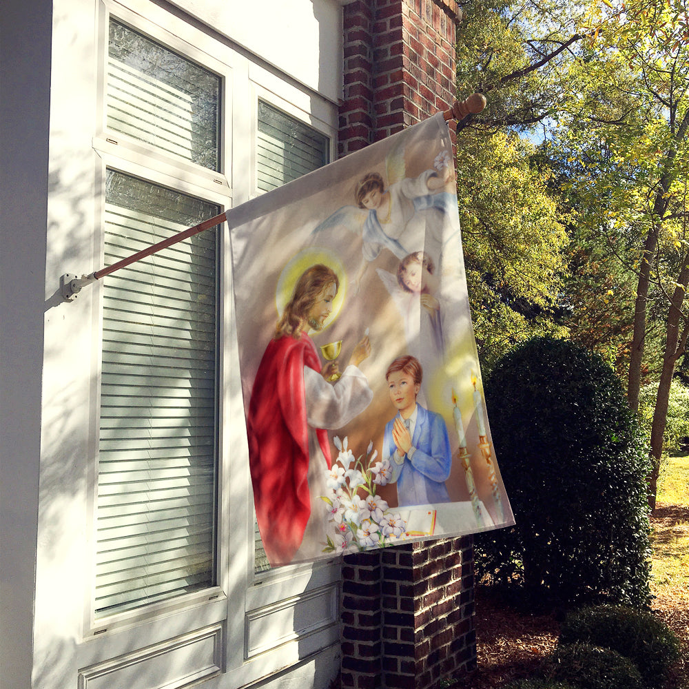 First Communion Boy Flag Canvas House Size by Caroline's Treasures
