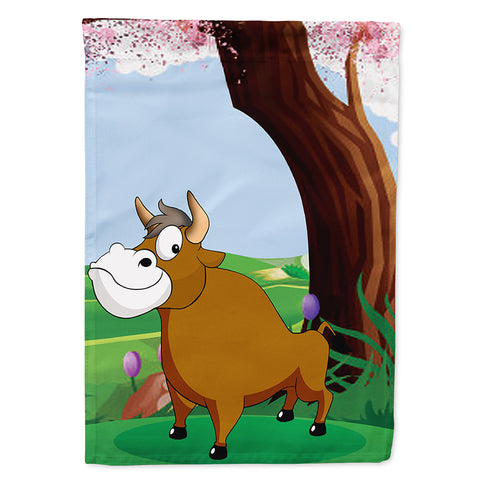 Buy this Bull under the Tree Flag Canvas House Size APH7628CHF