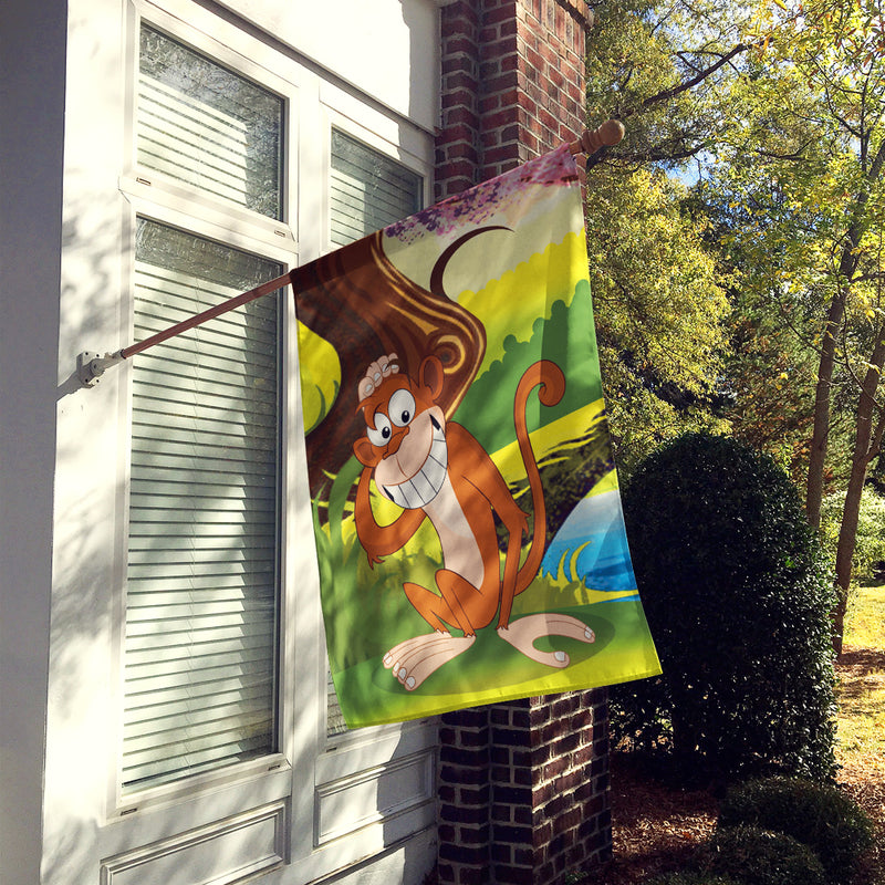 Buy this Monkey under the Tree Flag Canvas House Size APH7629CHF