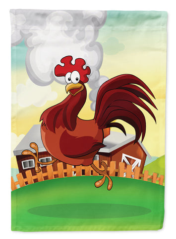 Buy this Rooster Chicken on the Run Flag Canvas House Size APH7630CHF
