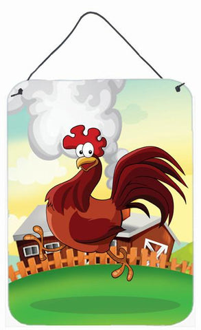 Buy this Rooster Chicken on the Run Wall or Door Hanging Prints APH7630DS1216