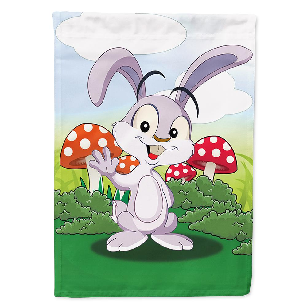 Buy this Bunny Rabbit in Mushrooms Flag Garden Size