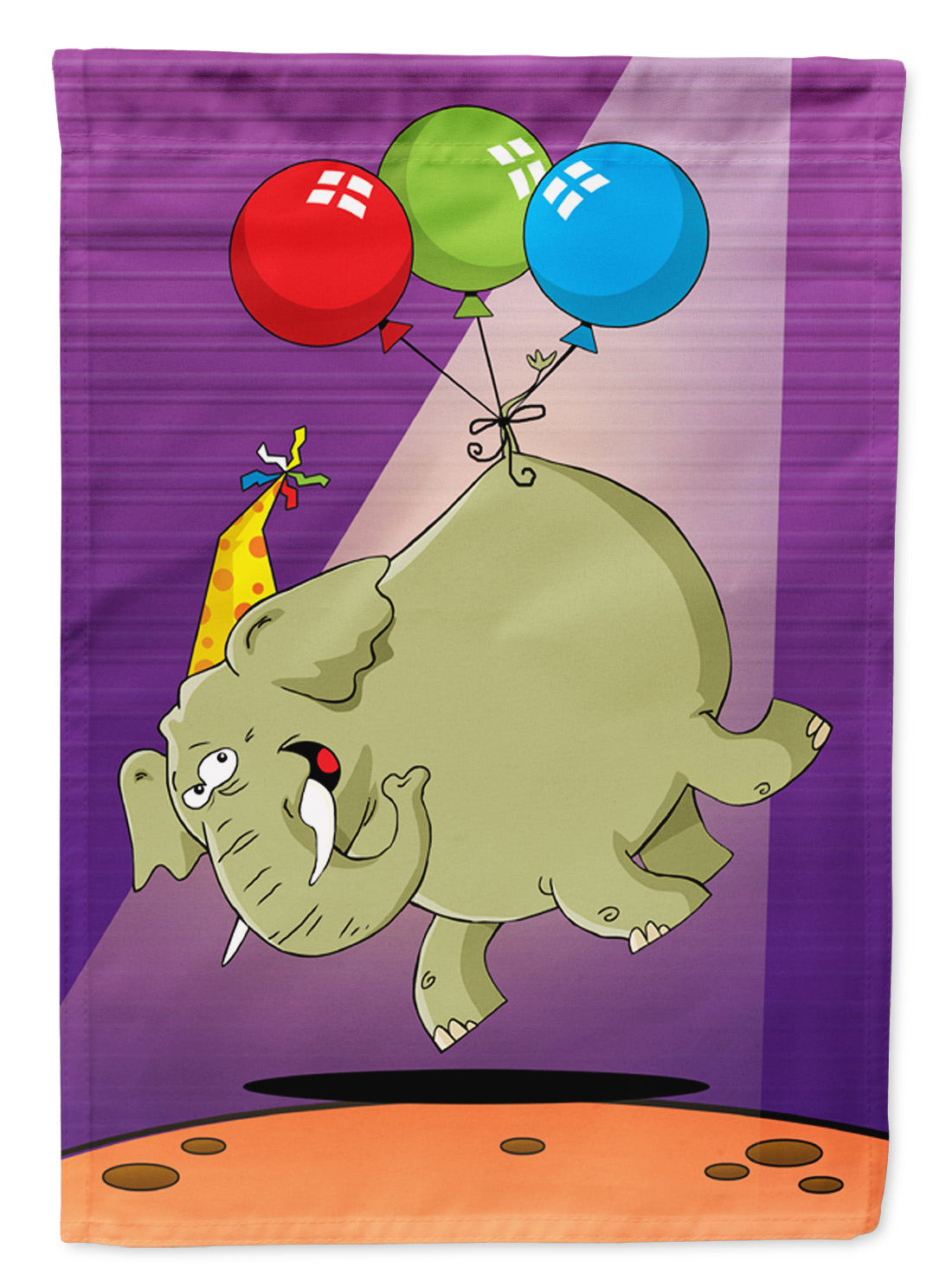 Buy this Happy Birthday Elephant Flag Canvas House Size APH8244CHF