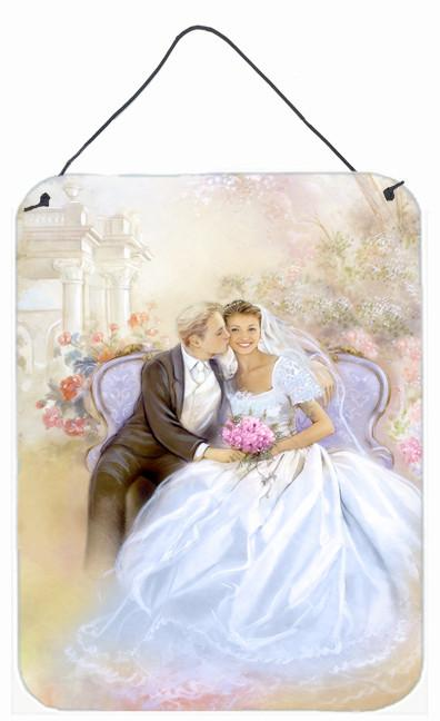 Wedding Couple Kiss Wall or Door Hanging Prints APH8292DS1216 by Caroline's Treasures