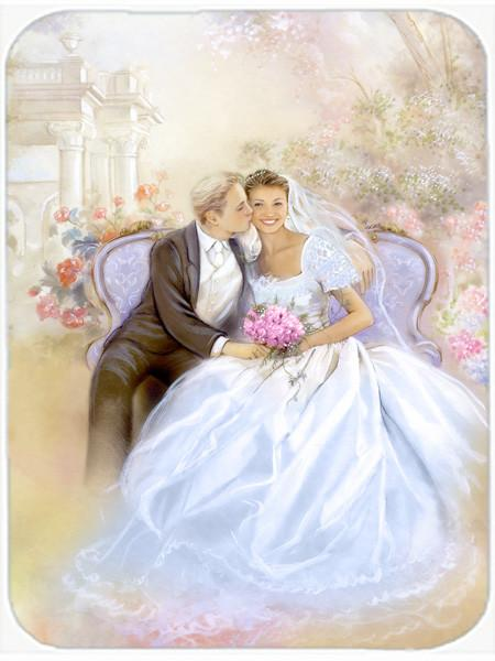 Wedding Couple Kiss Glass Cutting Board Large APH8292LCB by Caroline's Treasures