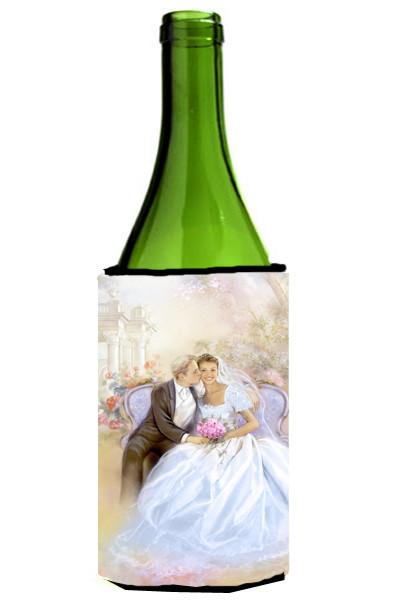 Wedding Couple Kiss Wine Bottle Beverage Insulator Hugger APH8292LITERK by Caroline's Treasures