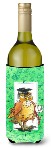 Buy this Graduation The Wise Owl Wine Bottle Beverage Insulator Hugger APH8469LITERK