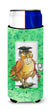 Graduation The Wise Owl Ultra Beverage Insulators for slim cans APH8469MUK by Caroline's Treasures
