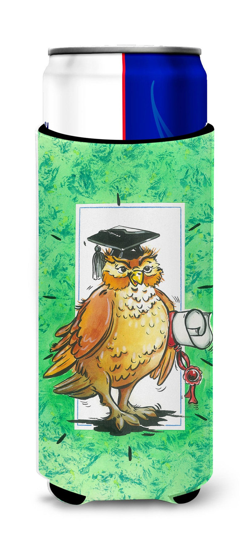 Buy this Graduation The Wise Owl Ultra Beverage Insulators for slim cans APH8469MUK