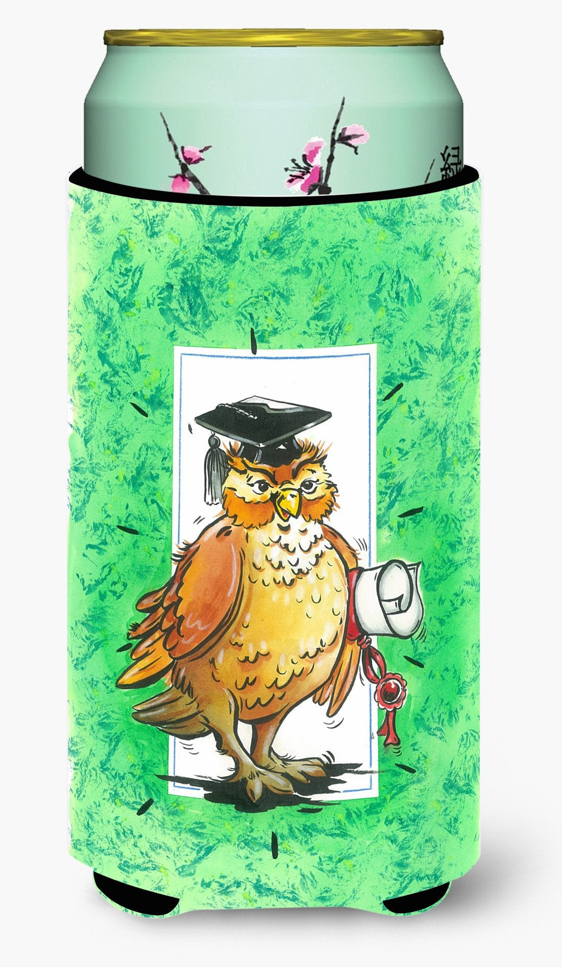 Graduation The Wise Owl Tall Boy Beverage Insulator Hugger APH8469TBC by Caroline's Treasures