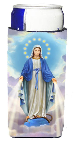 Buy this Religious Blessed Virgin Mother Mary Michelob Ultra Beverage Insulators for slim cans APH8805MUK