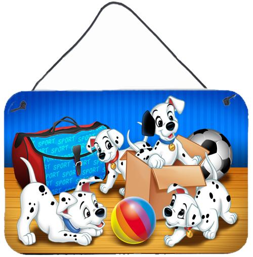 Dalmatians playing ball Wall or Door Hanging Prints APH9058DS812 by Caroline's Treasures