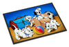 Dalmatians playing ball Indoor or Outdoor Mat 18x27 APH9058MAT - the-store.com