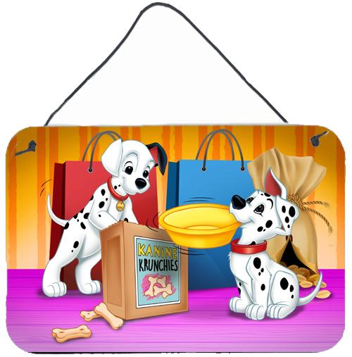 Dalmatians Snack Time Wall or Door Hanging Prints APH9063DS812 by Caroline's Treasures