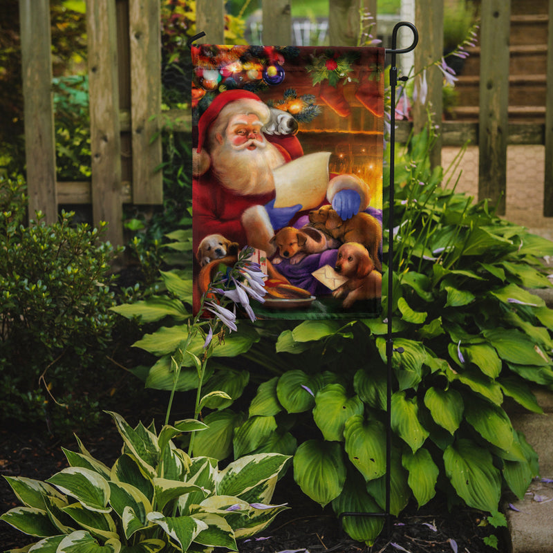Buy this Santa Claus checking his Christmas list Flag Garden Size APH9488GF
