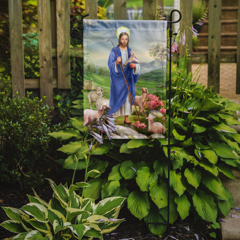 Buy this Jesus the Shepherd and his flock of sheep Flag Garden Size APH9640GF