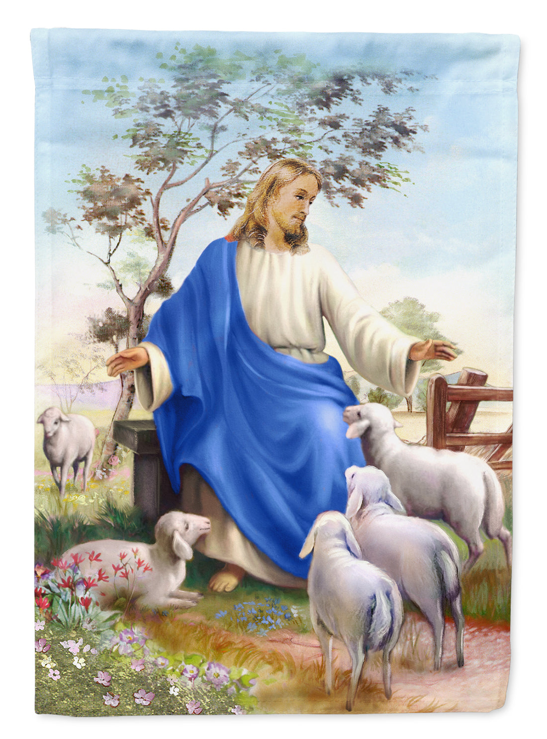 Buy this Jesus and his flock of sheep Flag Garden Size APH9641GF