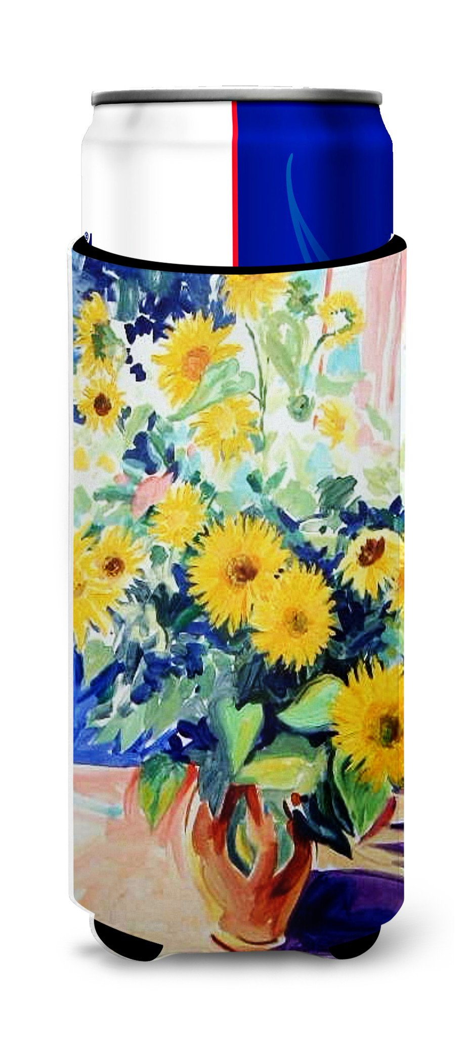 Sunflowers by Roy Avis Ultra Beverage Insulators for slim cans ARA0063MUK by Caroline's Treasures