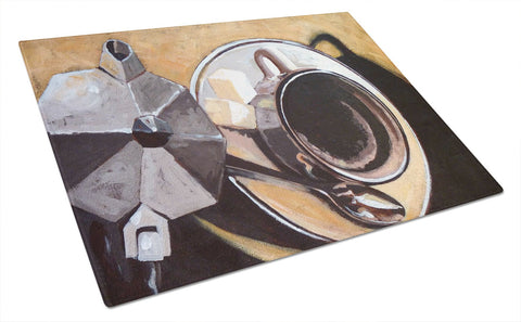 Buy this Coffee I by Roy Avis Glass Cutting Board Large ARA0086LCB