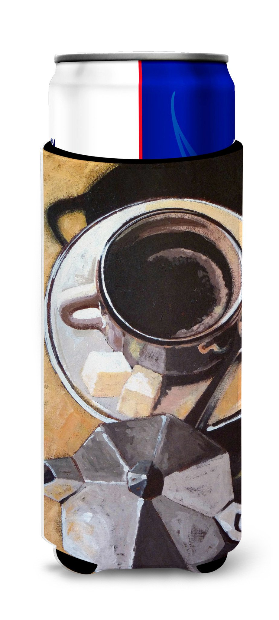 Coffee I by Roy Avis Ultra Beverage Insulators for slim cans ARA0086MUK by Caroline's Treasures