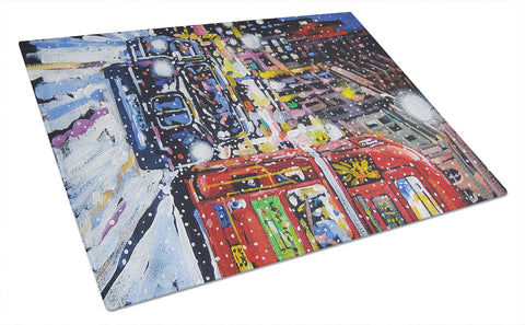 Buy this London Snow by Roy Avis Glass Cutting Board Large ARA0133LCB
