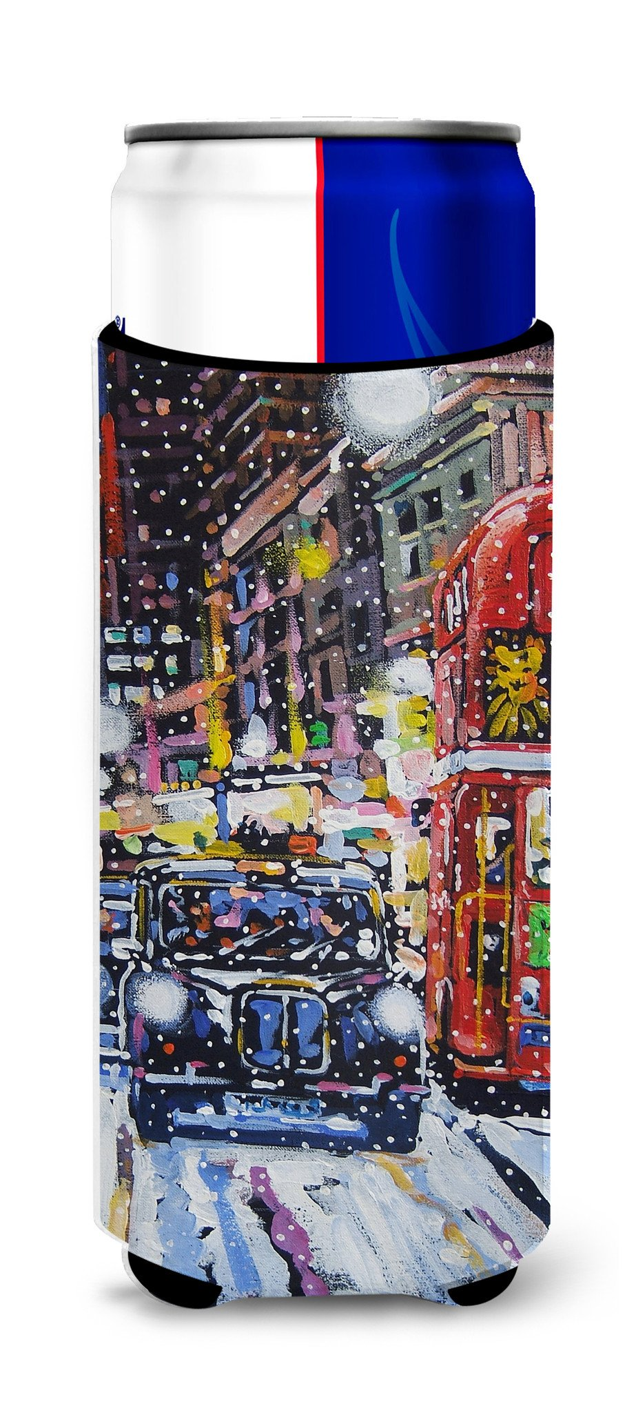 London Snow by Roy Avis Ultra Beverage Insulators for slim cans ARA0133MUK by Caroline's Treasures