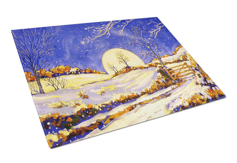 Buy this Winter Moonrise by Roy Avis Glass Cutting Board Large ARA0139LCB