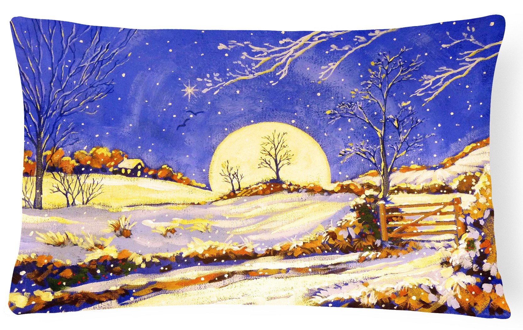 Winter Moonrise by Roy Avis Fabric Decorative Pillow ARA0139PW1216 by Caroline's Treasures
