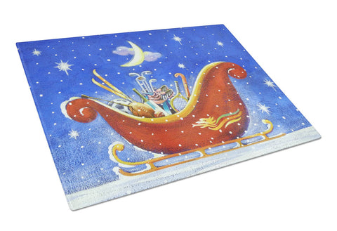 Buy this Christmas Santa's Sleigh by Roy Avis Glass Cutting Board Large ARA0143LCB