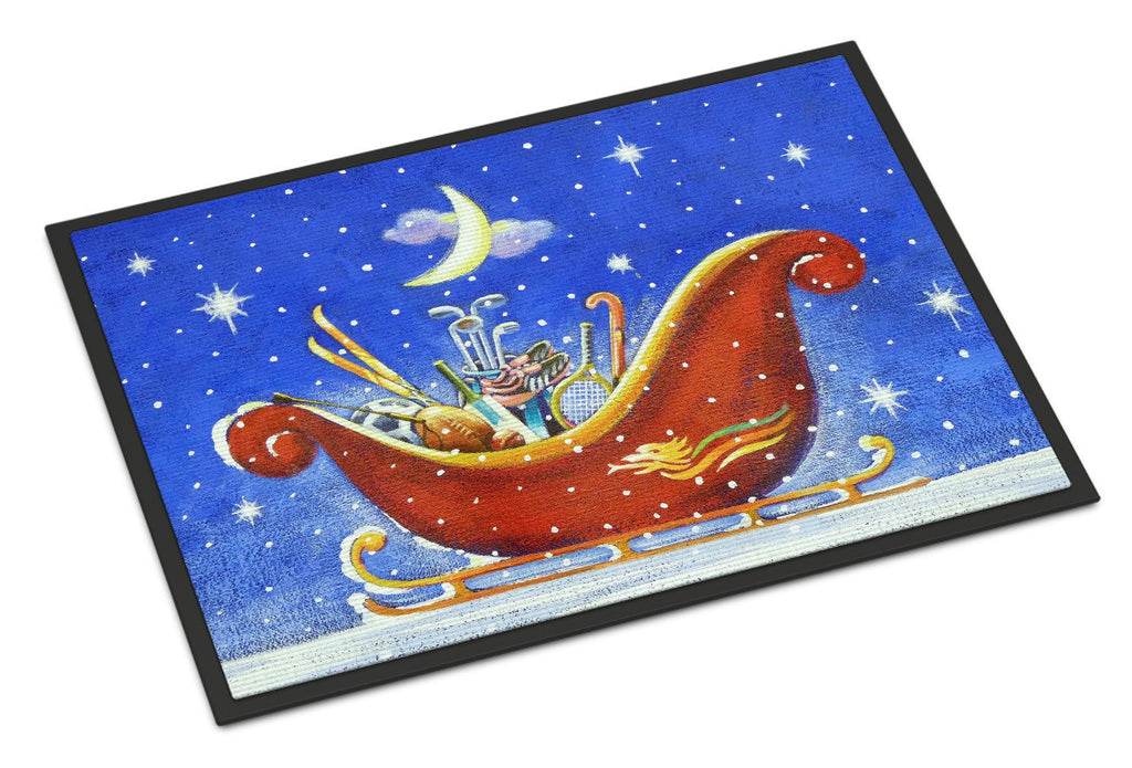 Buy this Christmas Santa's Sleigh by Roy Avis Indoor or Outdoor Mat 18x27 ARA0143MAT
