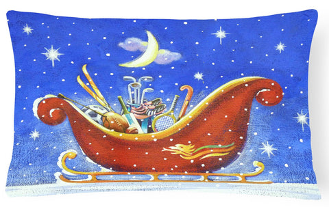Buy this Christmas Santa's Sleigh by Roy Avis Fabric Decorative Pillow ARA0143PW1216