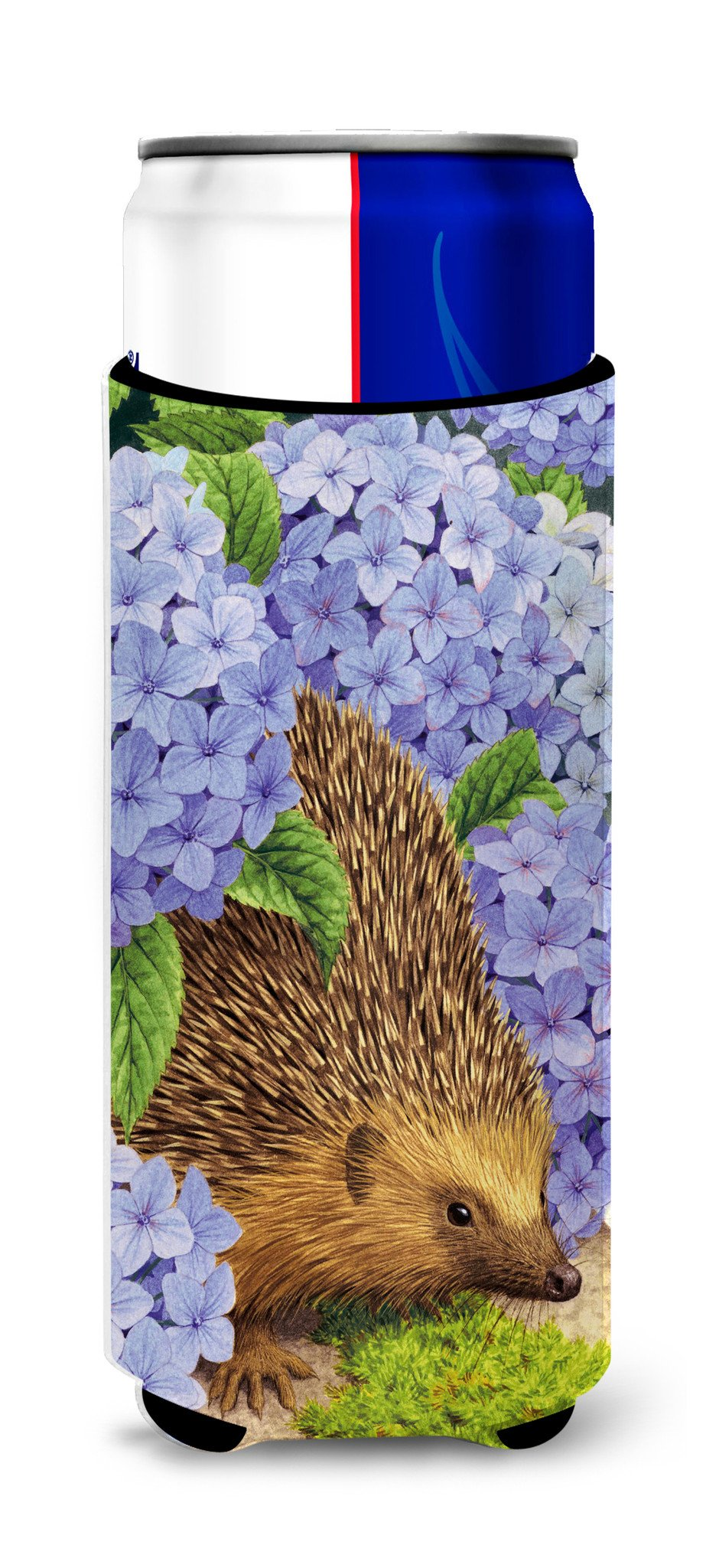 Buy this Hedgehog & Hydrangea Ultra Beverage Insulators for slim cans ASA2001MUK