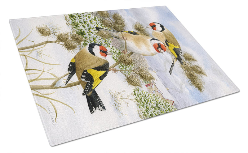 Buy this European Goldfinch Glass Cutting Board Large ASA2007LCB
