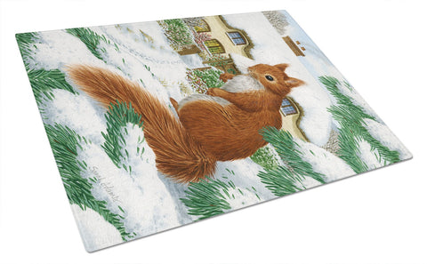 Buy this Red Squirrel & Cottage Glass Cutting Board Large ASA2014LCB